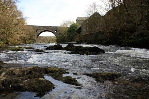 Alltcafan, bridge and mill. River Teifi