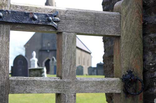 Penboyr Church, detail of gate